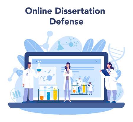 Chemistry scientist online service or platform. Scientific experiment