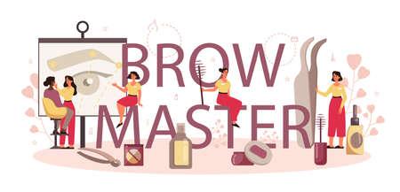 Eyebrow master and designer typographic header concept. Master Stock fotó - 149898213