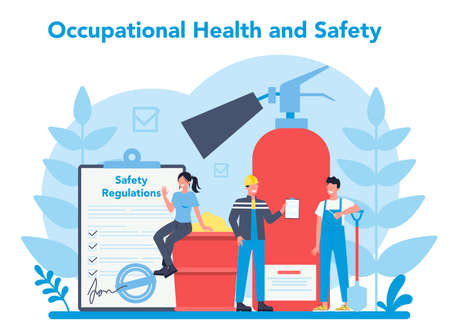 OSHA concept. Occupational safety and health administration. Vector Illustration