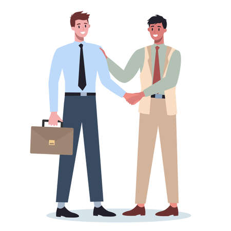 Teamwork concept. Business people shaking hands. Idea of