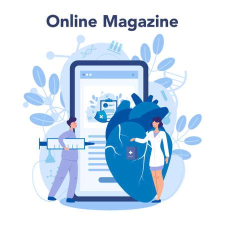 Cardiology online service or platform. Doctor deal