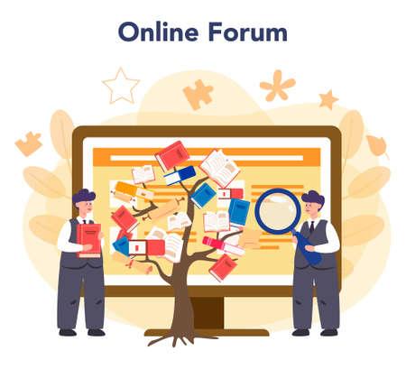 Literary scholar or critic online service or platform. Scientist