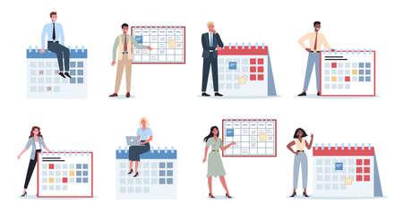 Businees people do planning concept set. Idea of business plan