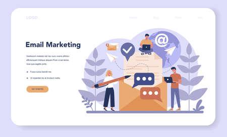 Digital marketing web banner or landing page. Business