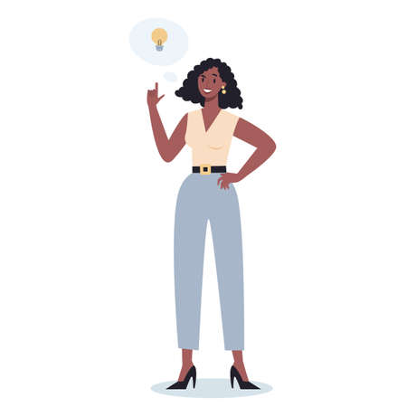Thoughtfull business people. Woman thinking in search of solutions