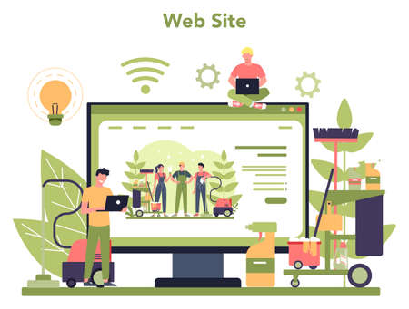 Cleaning service or company online service or platform. Website.