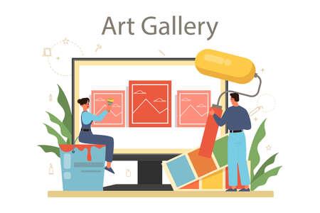 Professional decorator online service or platform. Designer