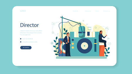 Producer web banner or landing page. Film and music production.