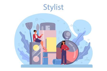 Fashion stylist concept. Modern, creative job, professional fashion