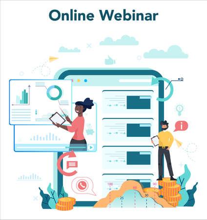 Business analyst online service or platform on differernt device