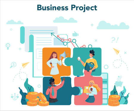 Business concept. Idea of strategy and achievement in teamwork.