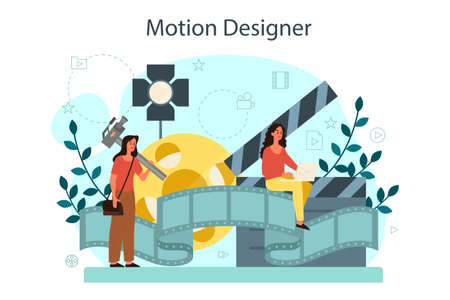 Motion or video designer. Artist create computer animation