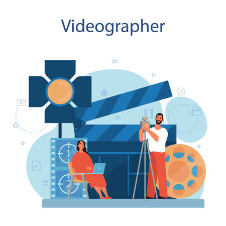 Video production or videographer concept. Movie and cinema