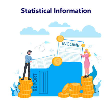 Statistician and statistic concept. Specialist working with data