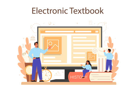 History online service or platform. History school subject