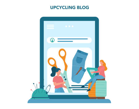 Upcycling online service or platform. Eco tips for reducing waste.