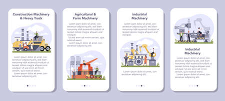 Industrial, construction and agriculture machinery mobile application