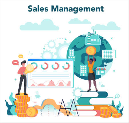 Sales manager or commercial director concept. Business planning