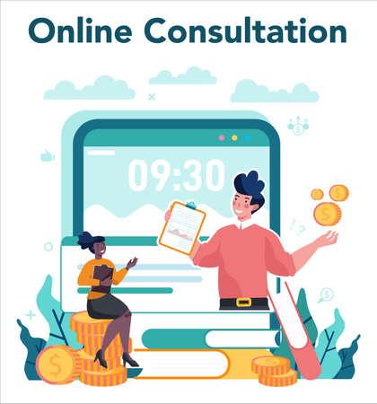 Sales manager or commercial director online service or platform.
