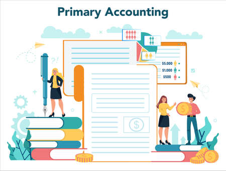 Accountant office manager. Professional bookkeeper. Concept of the