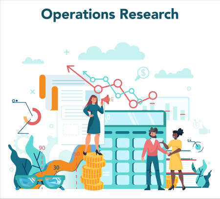 Audit concept. Business operation research and analysis. Financial