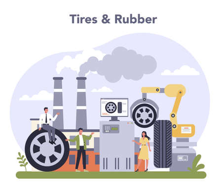 Spare parts production industry. Tires and rubber industry. Machinery