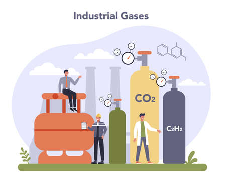 Chemical industry concept. Industrial chemistry and chemicals