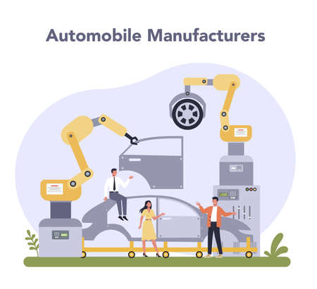 Car production industry. Vehicle part on the machinery line