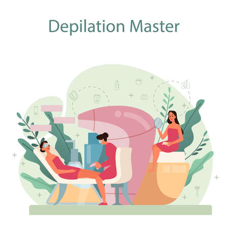 Depilation and epilation concept. Hair removal methods idea.