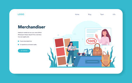 Store merchandiser web banner or landing page. Shop and