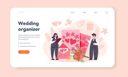 Wedding planner web banner or landing page. Professional Ilustrace