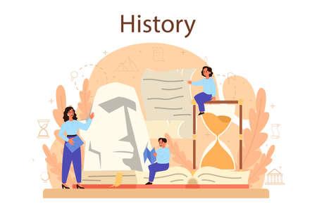 History concept. History school subject. Idea of science
