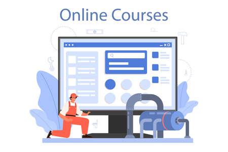 Plumber online service or platform. Plumbing service