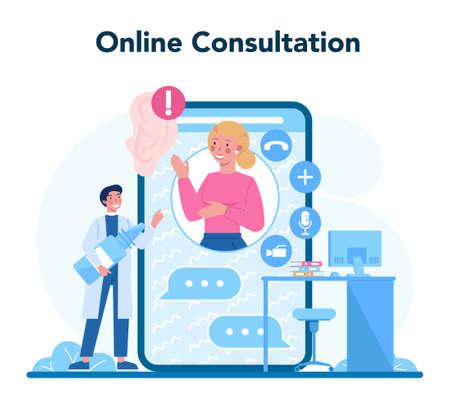 Otorhinolaryngologist online service or platform. Healthcare concept