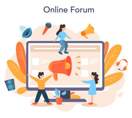 Professional speaker online service or platform. Peson speaking