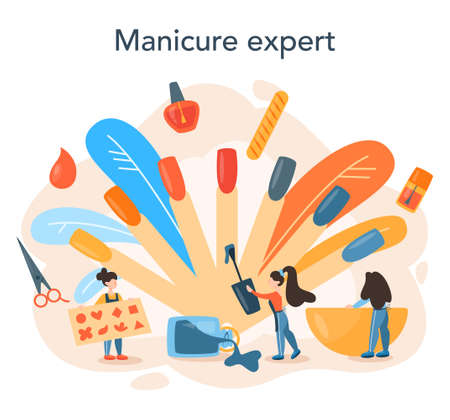 Manicurist service concept. Beauty salon worker. Nail treatment