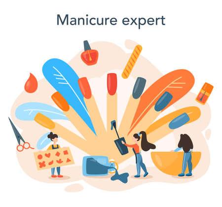 Manicurist service concept. Beauty salon worker. Nail treatment