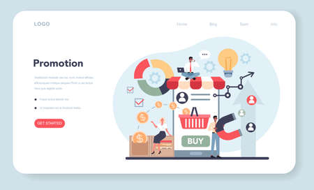 Trend watcher web banner or landing page. Specialist in tracking  イラスト・ベクター素材