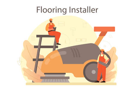 Flooring installer. Professional parquet laying, wooden or tile
