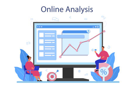 Website analyst online service or platform. Web page improvement