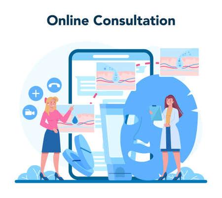 Dermatologist online service or platform. Dermatology specialist
