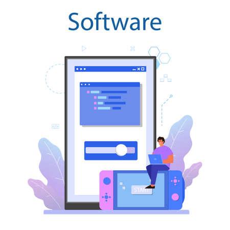 Game development online service or platform. Creative process