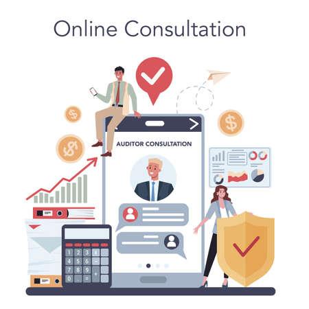 Audit online service or platform. Business operation research