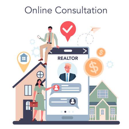 Qualified real estate agent or realtor online service or platform