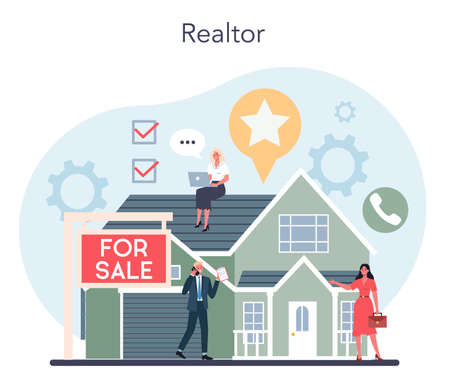 Qualified real estate agent or realtor concept. Realtor assistance
