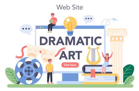 Drama class online service or platform. Children creative