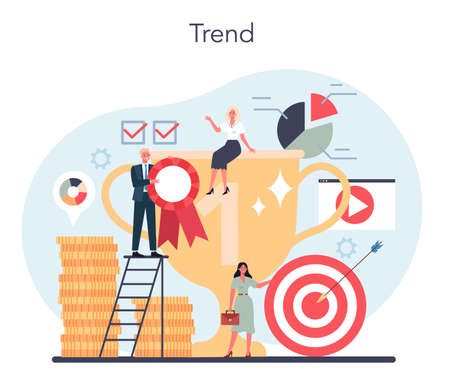 Trend watcher concept. Specialist in tracking the emergence of new