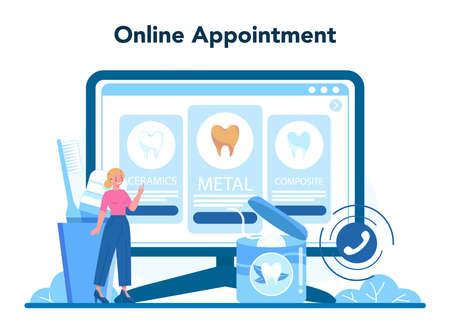 Dentist profession online service or platform. Dentists