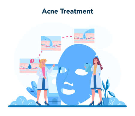 Dermatologist concept. Face skin and acne treatment. Dermatology