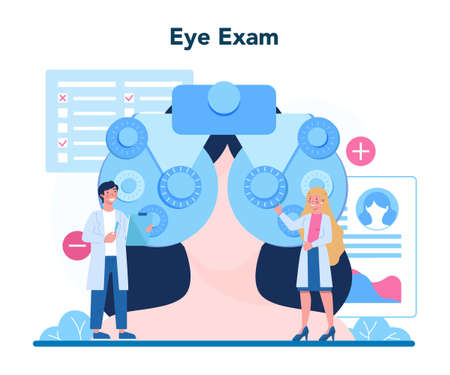 Ophthalmologist concept. Idea of eye care and vision. Oculist